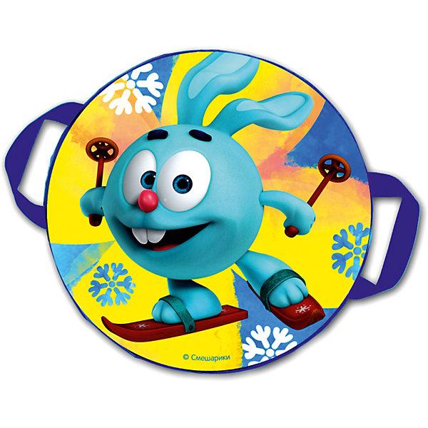 Санки-ледянки № 04 Крош на лыжах, диаметр 45 смЛедянки<br>Характеристики товара:<br><br>• размер: 45 см<br>• материал: полимер<br>• с принтом<br>• для детей<br>• есть ручки<br><br>Яркие санки-ледянки с изображением героя из любимого мультфильма - отличный подарок для ребенка! Эти ледянки дополнены удобными ручками, с помощью которых можно крепко держаться! Они качественно выполнены, отлично скользят по снегу и помогут принести массу удовольствия от катания на горках!<br>Активный зимний отдых помогает ребенку закалиться, развивать физические показатели , нарабатывать новые навыки и способности - ловкость, быструю реакцию, моторику. Изделие производится из качественных сертифицированных материалов, безопасных даже для самых маленьких.<br><br>Санки-ледянки № 04 Крош на лыжах, диаметр 45 см, можно купить в нашем интернет-магазине.<br>Ширина мм: 450; Глубина мм: 450; Высота мм: 25; Вес г: 260; Возраст от месяцев: 48; Возраст до месяцев: 2147483647; Пол: Унисекс; Возраст: Детский; SKU: 5214868;