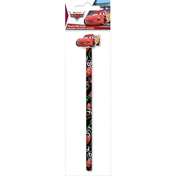 Чернографитный карандаш с фигурным ластиком, ТачкиКарандаши<br>Чернографитный карандаш с фигурным ластиком, Тачки, в ассортименте<br><br>Характеристики:<br><br>- Размер упаковки: 6 х3 х27,5см.<br>- В комплекте: 1 ч/г карандаш и 1 фигурный ластик.<br><br>Такой карандаш порадует маленького школьника дизайном в стиле любимого персонажа мультфильма Тачки (Cars) .  Фигурный ластик надет на карандаш. Все предметы украшены изображениями персонажей мультфильма. Дизайн в ассортименте.<br><br>Чернографитный карандаш с фигурным ластиком, Тачки, в ассортименте, можно купить в нашем интернет- магазине.<br>Ширина мм: 60; Глубина мм: 3; Высота мм: 275; Вес г: 25; Возраст от месяцев: 60; Возраст до месяцев: 84; Пол: Мужской; Возраст: Детский; SKU: 5218417;