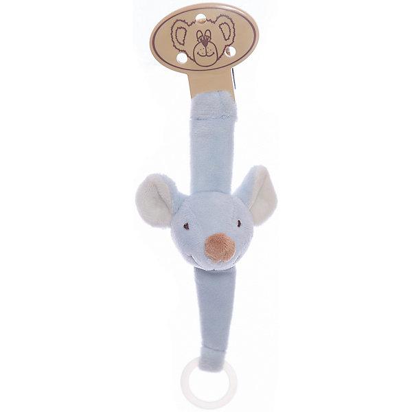 Держатель для соски Мышь, ДинглисарПустышки<br>Характеристики игрушки Teddykompaniet: <br><br>• размер держателя для соски: 21 см;<br>• материал: 100% хлопок (безворсовый велюр), пластик;<br>• серия: Динглисар;<br>• тип крепления: пластиковая клипса.<br><br>Держатель для соски крепится к одежде малыша с помощью пластикового карабина. Мягкая игрушка с мордочкой мышки приятная на ощупь, выполнена из велюра. На другом конце держателя находится пластиковое кольцо-держатель, к которому крепится пустышка. <br><br>Держатель для соски Мышь, Динглисар можно купить в нашем интернет-магазине.<br>Ширина мм: 50; Глубина мм: 100; Высота мм: 100; Вес г: 210; Возраст от месяцев: 0; Возраст до месяцев: 12; Пол: Унисекс; Возраст: Детский; SKU: 5219501;