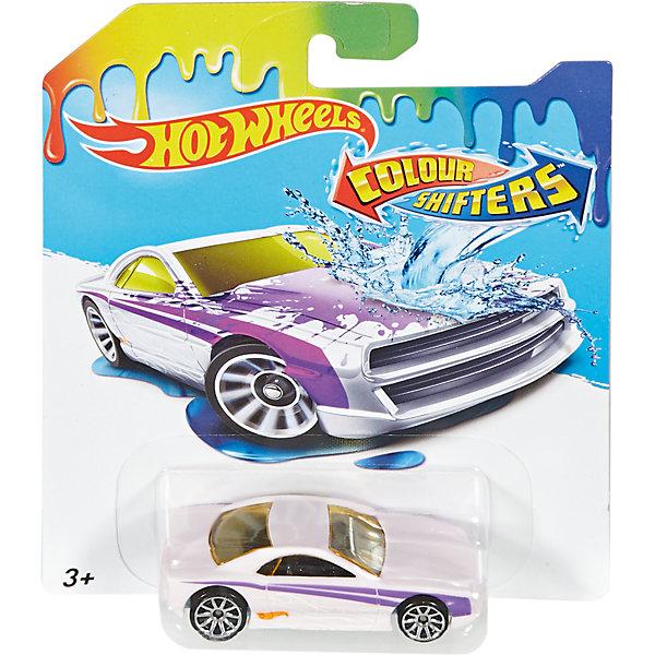 Меняющая цвет машинка COLOR SHIFTERS, Hot WheelsПопулярные игрушки<br>Характеристики:<br><br>• Вид игр: сюжетно-ролевые<br>• Предназначение: для дома, для игр с водой<br>• Серия: Color Shifters<br>• Пол: для мальчиков<br>• Материал: пластик, металл<br>• Цвет: желтый, фиолетовый, белый, серебристый, черный<br>• Размеры упаковки (Д*Ш*В): 12*11*3 см<br>• Вес:  120 г <br>• В зависимости от температуры воды меняет цвет<br>• Особенности ухода: разрешается мыть водой<br>• Упаковка: картонная упаковка с блистером<br><br>Меняющая цвет машинка COLOR SHIFTERS, Hot Wheels – это машинки, предназначенные для популярных игровых наборов Hot Wheels от Mattel. Особенностью этой серии является то, что машинки могут изменять цвет в зависимости от температуры воды: теплая вода окрашивает машинку в более яркий цвет, холодная – возвращает первоначальный вид. Регулируя температурный режим воды, можно создавать авторский дизайн корпуса машинки. <br>Меняющая цвет машинка COLOR SHIFTERS, Hot Wheels изготовлена из безопасного и ударопрочного пластика; корпус игрушки литой, колеса вращаются. Машинка подходит для всех типов наборов серии Hot Wheels. С машинкой, меняющей цвет, гонки станут еще более увлекательными!<br><br>Меняющую цвет машинку COLOR SHIFTERS, Hot Wheels, можно купить в нашем магазине.<br>Ширина мм: 166; Глубина мм: 126; Высота мм: 32; Вес г: 47; Возраст от месяцев: 36; Возраст до месяцев: 84; Пол: Мужской; Возраст: Детский; SKU: 5224246;