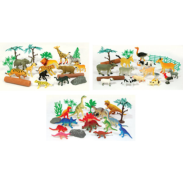 Boley Игровой набор-рюкзачок В мире животных в комплекте 20 шт, Boley boley 75232 игровой набор динозавры 40 предметов