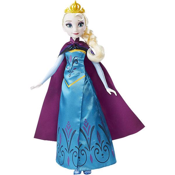 Кукла Холодное сердце Эльза в трансформирующемся платьеИдеи подарков<br>Характеристики:<br><br>• возраст: от 3 лет;<br>• материал: пластик, текстиль;<br>• высота куклы: 29 см;<br>• размер упаковки: 32,4х20,3х6,4 см;<br>• вес упаковки: 153 гр.;<br>• страна производитель: Китай.<br><br>Кукла «Эльза в трансформирующемся наряде» Принцессы Дисней Hasbro — героиня известного мультфильма «Холодное сердце» принцесса Эльза. Она одета в необычное платье, которое может перевоплощаться из наряда с коронации в платье Снежной королевы. С куклой девочка сможет придумывать интересные игры или воспроизводить сценки из мультфильма.<br><br>Куклу «Эльза в трансформирующемся наряде» Принцессы Дисней Hasbro можно приобрести в нашем интернет-магазине.<br>Ширина мм: 325; Глубина мм: 207; Высота мм: 66; Вес г: 253; Возраст от месяцев: 36; Возраст до месяцев: 2147483647; Пол: Женский; Возраст: Детский; SKU: 5225689;