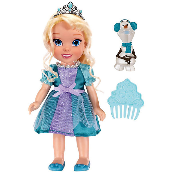 цена на Jakks Pacific Кукла-малышка Холодное Сердце со снеговиком - Эльза, 15 см