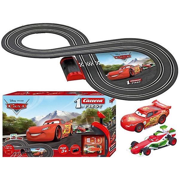 Трэк на батарейках Disney Cars, CarreraАвтотреки<br>Трэк на батарейках Disney Cars, Carrera (Каррера).<br><br>Характеристики:<br><br>- В комплекте: 2 машины, детали трека, 2 пульта управления<br>- Батарейки: 4 x C / LR14 1.5V малые бочонки (не входят в комплект)<br>- Размер собранного трека: 45 х 93 см.<br>- Длина трека: 2,4 м.<br>- Материал: пластик, металл<br>- Упаковка: картонная коробка<br>- Размер упаковки: 30 x 7,2 x 50 см.<br>- Вес: 1,25 кг.<br><br>Трэк на батарейках Disney Cars от бренда Carrera (Каррера) представляет собой гоночную трассу в виде восьмерки длиной 2,4 метра.  Трек очень легко собирается, он компактен и не занимает много места. Машинки, имеющиеся в наборе, созданы в точном соответствии с внешним видом героев популярного мультфильма Тачки. Легкие в использовании пульты управления позволят устраивать настоящие гоночные состязания. Трек выполнен из высококачественных материалов и прослужит развлечением для ребенка долгое время.<br><br>Трэк на батарейках Disney Cars, Carrera (Каррера) можно купить в нашем интернет-магазине.<br>Ширина мм: 500; Глубина мм: 300; Высота мм: 70; Вес г: 1444; Возраст от месяцев: 36; Возраст до месяцев: 2147483647; Пол: Мужской; Возраст: Детский; SKU: 5237832;