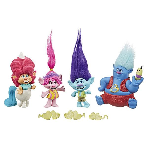 Hasbro Игровой набор Trolls Worf Tour, 4 фигурки фигурки героев мультфильмов trolls коллекционная фигурка trolls в закрытой упаковке 10 см в ассортименте