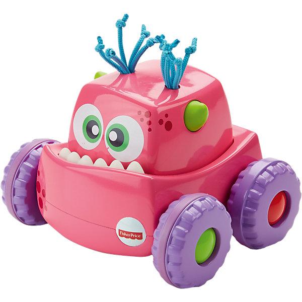 Mattel Машинка для малышей Fisher-Price «Девочка», Розовый монстрик кресло прыгунки fisher price тропический лес от 9 месяцев разноцветный пластик музыкальная chn38