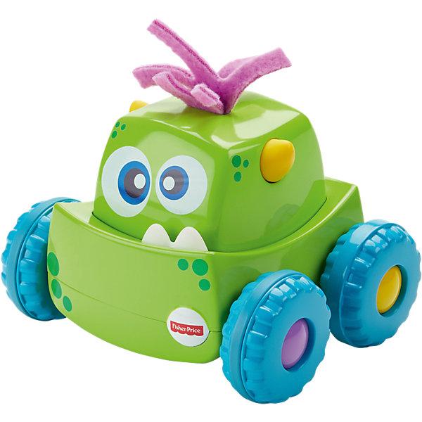 Машинка для малышей Fisher-Price «Мальчик», Зеленый монстрикМашинки для малышей<br>Характеристики:<br><br>• возраст: от 9 месяцев;<br>• материал: пластик, текстиль, металл;<br>• вес в упаковки: 163 гр.; <br>• размер упаковки: 2х11х33 см;<br>• страна бренда: США.<br><br>Машинка для малышей Fisher-Price (Фишер-Прайс) «Мальчик», Зеленый монстрик выполнена из качественного пластика, легко выдержит столкновения с предметами.<br><br>Большие колеса помогают преодолеть любые препятствия. В игрушке имеется инерционный механизм, для того, чтобы она поехала самостоятельно, необходимо нажать ей на голову.<br><br>Машинка для малышей Fisher-Price (Фишер-Прайс) «Мальчик», Зеленый монстрик можно приобрести в нашем интернет-магазине.<br>Ширина мм: 228; Глубина мм: 221; Высота мм: 164; Вес г: 163; Возраст от месяцев: 9; Возраст до месяцев: 24; Пол: Унисекс; Возраст: Детский; SKU: 5248085;