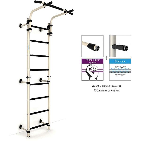 ROMANA Шведская лестница S8 (490 мм), белый антик золото/черный шведская стенка hercules 5699 с турником платформой для пневмогруши ловушкой для грифа штанги