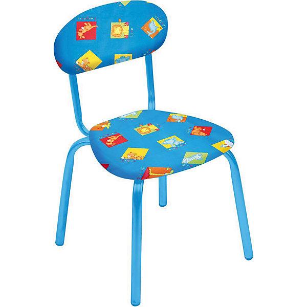 Стул СТУ5. Звери на синем, НикаДетские столы и стулья<br>Стул СТУ5. Звери на синем, Ника.<br><br>Характеристики:<br><br>- Для детей от 1.5 до 3 лет<br>- Высота до сидения: 29 см.<br>- Высота по спинке: 54 см.<br>- Размер сидения: 31х28 см.<br>- Материал: металл окрашенный, фанера, поролон, пластмасса, ткань (замша) или винилискожа<br>- Основной цвет: синий<br>- Мягкое сиденье и спинка<br>- Устойчивая конструкция<br>- Яркие рисунки<br><br>Стул «Звери на синем» разработан специально для детей от полутора до трех лет. Он легкий, устойчивый и занимает немного места. Сидение и спинка стула выполнены из фанеры и обиты поролоном. Каркас металлический. Стул декорирован яркими рисунками, которые понравятся малышам. Стул «Звери на синем» - это отличное решение для игр, творчества и развивающих занятий! Ведь правильно подобранная детская мебель помогает ребенку расти здоровым, и способствует формированию правильной осанки. Изделие производится из качественных сертифицированных материалов, безопасных даже для самых маленьких.<br><br>Стул СТУ5. Звери на синем, Ника можно купить в нашем интернет-магазине.<br>Ширина мм: 350; Глубина мм: 320; Высота мм: 545; Вес г: 1950; Возраст от месяцев: 180; Возраст до месяцев: 36; Пол: Унисекс; Возраст: Детский; SKU: 5253029;