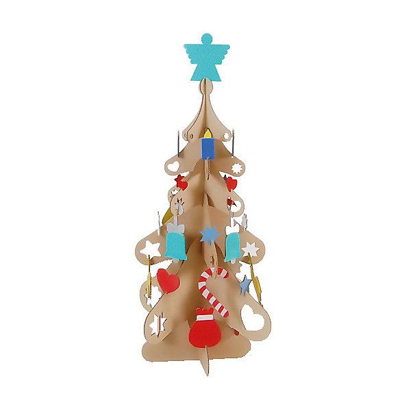 Набор для творчества из картона Новогодняя ёлка, крафтБренды конструкторов<br>Характеристики:<br><br>• материал: картон;<br>• комплектация: детали для сборки елки, нейлоновые крепления, елочные игрушки из картона;<br>• размер елки в готовом виде: 140х68 см;<br>• размер упаковки: 74х45х5 см;<br>• вес: 1,7 кг.<br><br>Набор для творчества позволяет детям собрать новогоднюю елку из картона, нарядить ее с помощью колокольчиков, ангелочков и сердечек, которые также изготовлены из картона. В процессе игры развивается мелкая моторика, фантазия, логическое и образное мышление.<br><br>Набор для творчества из картона Новогодняя ёлка, крафт, можно купить в нашем магазине.<br>Ширина мм: 450; Глубина мм: 740; Высота мм: 50; Вес г: 2200; Возраст от месяцев: 36; Возраст до месяцев: 2147483647; Пол: Унисекс; Возраст: Детский; SKU: 5253046;