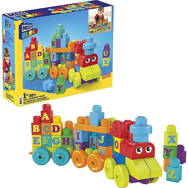 Mattel Конструктор Mega Bloks «Обучающий поезд», 60 деталей алфавит набор конструктор mega bloks halo танк носорог 822 элемента
