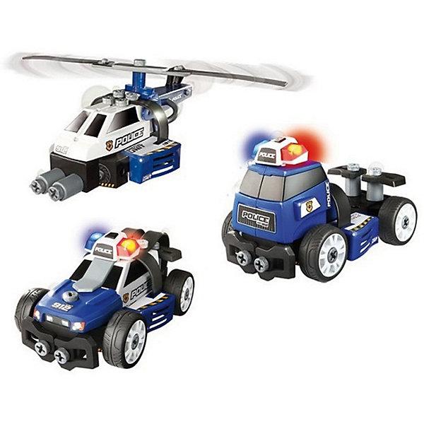 Smoby Набор-конструктор Полиция 3 в 1, Smoby мир деревянных игрушек конструктор каталка полиция
