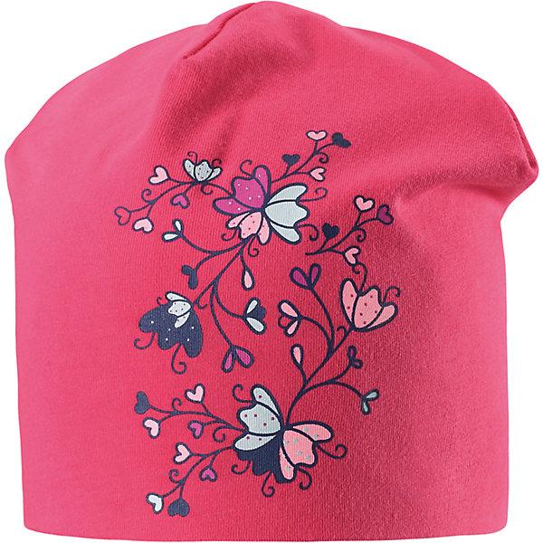 Шапка  для девочки LASSIEШапки и шарфы<br>Характеристики товара:<br><br>• цвет: розовый<br>• температурный режим: от +20°до +5°С<br>• состав: 95% хлопок, 5% эластан<br>• эластичный материал<br>• мягкая сплошная подкладка: смесь хлопка jersey<br>• принт<br>• комфортная посадка<br>• страна производства: Китай<br>• страна бренда: Финляндия<br>• коллекция: весна-лето 2017<br><br>Детский головной убор может быть модным и удобным одновременно! Стильная шапка поможет обеспечить ребенку комфорт и дополнить наряд. Она отлично смотрится с различной одеждой. Шапка удобно сидит и аккуратно выглядит. Проста в уходе, долго служит. Продуманный крой разрабатывался специально для детей.<br><br>Обувь и одежда от финского бренда LASSIE пользуются популярностью во многих странах. Они стильные, качественные и удобные. Для производства продукции используются только безопасные, проверенные материалы и фурнитура. Порадуйте ребенка модными и красивыми вещами от Lassie®! <br><br>Шапку для девочки от финского бренда LASSIE можно купить в нашем интернет-магазине.<br>Ширина мм: 89; Глубина мм: 117; Высота мм: 44; Вес г: 155; Цвет: розовый; Возраст от месяцев: 12; Возраст до месяцев: 18; Пол: Женский; Возраст: Детский; Размер: 46-48,54-56,50-52; SKU: 5264183;