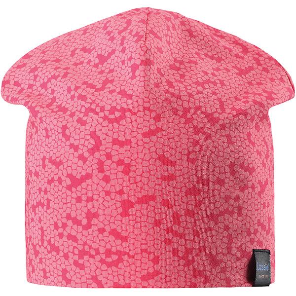 Шапка LASSIEШапки и шарфы<br>Характеристики товара:<br><br>• цвет: розовый<br>• температурный режим: от +15°до +5°С<br>• состав: 97% хлопок, 3% эластан<br>• эластичный материал<br>• мягкая сплошная подкладка: смесь хлопка jersey<br>• ветронепроницаемые вставки в области ушей<br>• принт<br>• комфортная посадка<br>• страна производства: Китай<br>• страна бренда: Финляндия<br>• коллекция: весна-лето 2017<br><br>Детский головной убор может быть модным и удобным одновременно! Стильная шапка поможет обеспечить ребенку комфорт и дополнить наряд. Она отлично смотрится с различной одеждой. Шапка удобно сидит и аккуратно выглядит. Проста в уходе, долго служит. Продуманный крой разрабатывался специально для детей.<br><br>Обувь и одежда от финского бренда LASSIE пользуются популярностью во многих странах. Они стильные, качественные и удобные. Для производства продукции используются только безопасные, проверенные материалы и фурнитура. Порадуйте ребенка модными и красивыми вещами от Lassie®! <br><br>Шапку от финского бренда LASSIE можно купить в нашем интернет-магазине.<br>Ширина мм: 89; Глубина мм: 117; Высота мм: 44; Вес г: 155; Цвет: красный; Возраст от месяцев: 12; Возраст до месяцев: 18; Пол: Унисекс; Возраст: Детский; Размер: 46-48,54-56,50-52; SKU: 5264231;