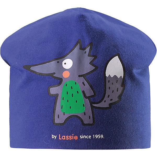 Lassie Шапка LASSIE lassie шапка синий с мишкой
