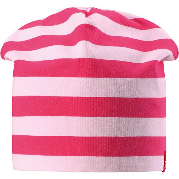 Шапка для девочки ReimaШапки и шарфы<br>Характеристики товара:<br><br>• цвет: розовый/светло-розовый<br>• быстросохнущий материал<br>• состав: 65% хлопок, 30% полиэстер, 5% эластан<br>• температурный режим: от +5°до +15°С<br>• эластичный материал<br>• сплошная подкладка: влаговыводящий трикотаж<br>• двухсторонняя<br>• отводящий влагу материал Play Jersey<br>• декоративный логотип<br>• фактор защиты от ультрафиолета: 40+<br>• комфортная посадка<br>• страна производства: Китай<br>• страна бренда: Финляндия<br>• коллекция: весна-лето 2017<br><br>Детский головной убор может быть модным и удобным одновременно! Стильная шапка поможет обеспечить ребенку комфорт и дополнить наряд. Она отлично смотрится с различной одеждой. Шапка удобно сидит и аккуратно выглядит. Проста в уходе, долго служит. Стильный дизайн разрабатывался специально для детей. Отличная защита от солнца!<br><br>Одежда и обувь от финского бренда Reima пользуется популярностью во многих странах. Эти изделия стильные, качественные и удобные. Для производства продукции используются только безопасные, проверенные материалы и фурнитура. Порадуйте ребенка модными и красивыми вещами от Reima! <br><br>Шапку для мальчика от финского бренда Reima (Рейма) можно купить в нашем интернет-магазине.<br>Ширина мм: 89; Глубина мм: 117; Высота мм: 44; Вес г: 155; Цвет: розовый; Возраст от месяцев: 18; Возраст до месяцев: 36; Пол: Женский; Возраст: Детский; Размер: 50,54; SKU: 5267919;