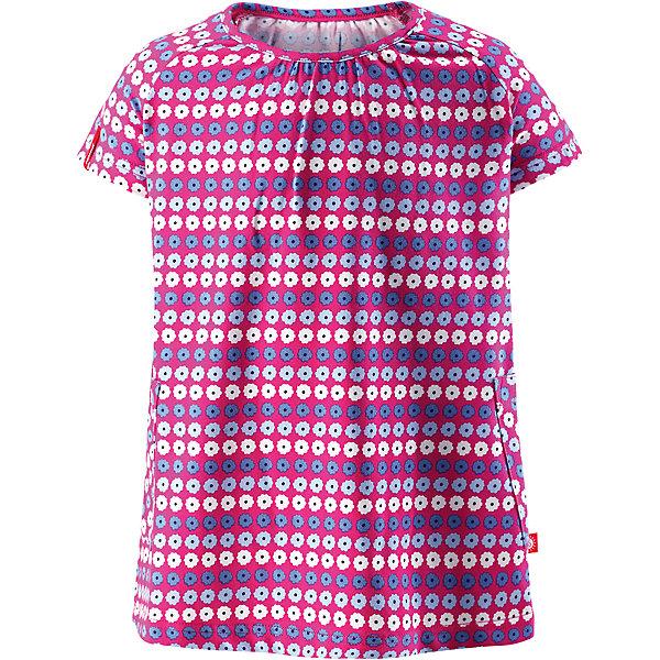 Платье Haili для девочки ReimaОдежда<br>Характеристики товара:<br><br>• цвет: сиреневый<br>• состав: 65% хлопок, 30% полиэстер, 5% эластан<br>• фактор защиты от ультрафиолета 40+<br>• быстросохнущий, приятный на ощупь материал Play Jersey<br>• приятная на ощупь хлопковая поверхность<br>• влагоотводящая изнаночная сторона<br>• трапециевидный силуэт<br>• два накладных кармана<br>• страна бренда: Финляндия<br>• страна производства: Китай<br><br>Одежда может быть модной и комфортной одновременно! Удобное симпатичное платье поможет обеспечить ребенку комфорт - оно не стесняет движения и удобно сидит. Стильный дизайн разрабатывался специально для детей.<br><br>Уход:<br><br>• стирать и гладить, вывернув наизнанку<br>• стирать с бельем одинакового цвета<br>• стирать моющим средством, не содержащим отбеливающие вещества<br>• полоскать без специального средства<br>• придать первоначальную форму вo влажном виде.<br><br>Платье для девочки от финского бренда Reima (Рейма) можно купить в нашем интернет-магазине.<br>Ширина мм: 236; Глубина мм: 16; Высота мм: 184; Вес г: 177; Цвет: розовый; Возраст от месяцев: 60; Возраст до месяцев: 72; Пол: Женский; Возраст: Детский; Размер: 116,98,110,104,86,128,92,80,122; SKU: 5268182;