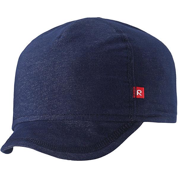Кепка Wafer для мальчика ReimaШапки и шарфы<br>Характеристики товара:<br><br>• цвет: тёмно-синий<br>• состав: 65% хлопок, 30% полиэстер, 5% эластан<br>• сплошная подкладка: влаговыводящий трикотаж Play Jersey<br>• температурный режим: от +10С<br>• фактор защиты от ультрафиолета: 50+<br>• эластичный материал<br>• быстросохнущий, очень приятный на ощупь материал Play Jersey<br>• приятная на ощупь хлопковая поверхность<br>• влагоотводящая изнаночная сторона<br>• эмблема Reima спереди<br>• страна бренда: Финляндия<br>• страна производства: Китай<br><br>Детский головной убор может быть модным и удобным одновременно! Стильная кепка поможет обеспечить ребенку комфорт и дополнить наряд. Кепка удобно сидит и аккуратно выглядит. Проста в уходе, долго служит. Стильный дизайн разрабатывался специально для детей. Отличная защита от солнца!<br><br>Уход:<br><br>• стирать с бельем одинакового цвета, вывернув наизнанку<br>• полоскать без специального средства<br>• придать первоначальную форму вo влажном виде.<br><br>Кепку от финского бренда Reima (Рейма) можно купить в нашем интернет-магазине.<br>Ширина мм: 89; Глубина мм: 117; Высота мм: 44; Вес г: 155; Цвет: синий; Возраст от месяцев: 6; Возраст до месяцев: 9; Пол: Мужской; Возраст: Детский; Размер: 46,50; SKU: 5271006;