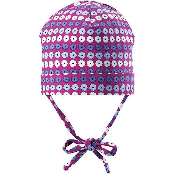 Шапка Linna для девочки ReimaШапки и шарфы<br>Характеристики товара:<br><br>• цвет: фиолетовый<br>• состав: 65% хлопок, 30% полиэстер, 5% эластан<br>• сплошная подкладка: влаговыводящий трикотаж Play Jersey<br>• температурный режим: от 0С до +10С<br>• фактор защиты от ультрафиолета: 40+<br>• эластичный материал<br>• быстросохнущий, очень приятный на ощупь материал Play Jersey<br>• приятная на ощупь хлопковая поверхность<br>• влагоотводящая изнаночная сторона<br>• завязки во всех размерах<br>• эмблема Reima сзади<br>• страна бренда: Финляндия<br>• страна производства: Китай<br><br>Детский головной убор может быть модным и удобным одновременно! Стильная шапка поможет обеспечить ребенку комфорт и дополнить наряд. Шапка удобно сидит и аккуратно выглядит. Проста в уходе, долго служит. Стильный дизайн разрабатывался специально для детей. Отличная защита от дождя и ветра!<br><br>Уход:<br><br>• стирать с бельем одинакового цвета, вывернув наизнанку<br>• полоскать без специального средства<br>• придать первоначальную форму вo влажном виде.<br><br>Шапку от финского бренда Reima (Рейма) можно купить в нашем интернет-магазине.<br>Ширина мм: 89; Глубина мм: 117; Высота мм: 44; Вес г: 155; Цвет: розовый; Возраст от месяцев: 6; Возраст до месяцев: 9; Пол: Женский; Возраст: Детский; Размер: 46,50,52,48; SKU: 5271035;