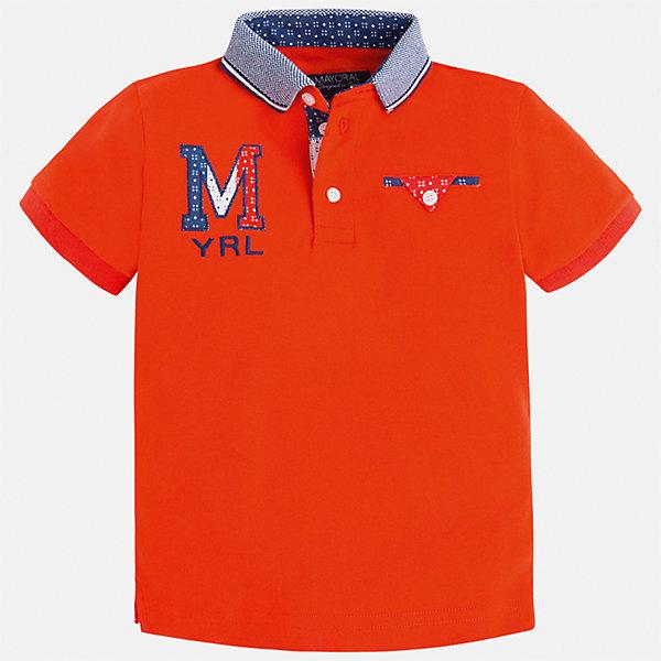 Футболка-поло для мальчика MayoralФутболки, поло и топы<br>Характеристики товара:<br><br>• цвет: красный<br>• состав: 100% хлопок<br>• отложной воротник<br>• приятный на ощупь материал<br>• застежка: пуговицы<br>• страна бренда: Испания<br><br>Стильная футболка-поло для мальчика может стать базовой вещью в гардеробе ребенка. Она отлично сочетается с брюками, шортами, джинсами и т.д. Универсальный крой и цвет позволяет подобрать к вещи низ разных расцветок. Практичное и стильное изделие! В составе материала - только натуральный хлопок, гипоаллергенный, приятный на ощупь, дышащий.<br><br>Одежда, обувь и аксессуары от испанского бренда Mayoral полюбились детям и взрослым по всему миру. Модели этой марки - стильные и удобные. Для их производства используются только безопасные, качественные материалы и фурнитура. Порадуйте ребенка модными и красивыми вещами от Mayoral! <br><br>Футболку-поло для мальчика от испанского бренда Mayoral (Майорал) можно купить в нашем интернет-магазине.<br>Ширина мм: 230; Глубина мм: 40; Высота мм: 220; Вес г: 250; Цвет: красный; Возраст от месяцев: 24; Возраст до месяцев: 36; Пол: Мужской; Возраст: Детский; Размер: 98,92,128,134,122,116,110,104; SKU: 5271940;