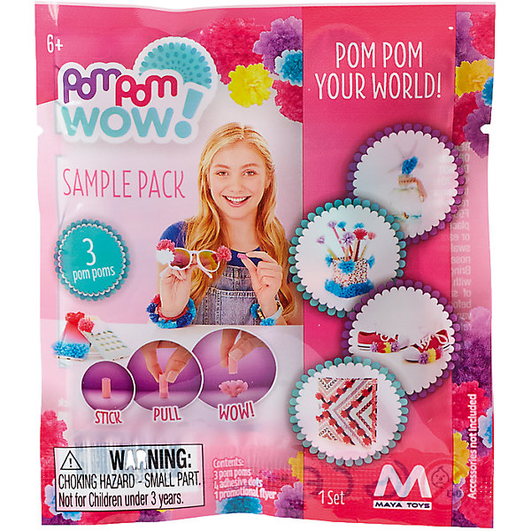 Pom Pom Wow Набор для творчества ПомПом Вау Доп Набор flower decorated kids headband with pom pom