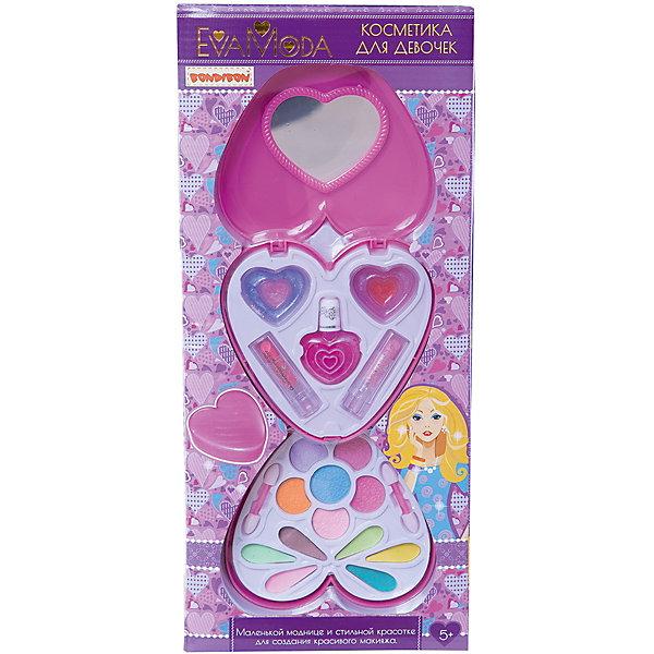 Bondibon Детская декоративная косметика Косметичка-сердце Eva Moda детская косметика цептер