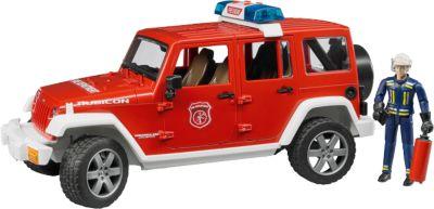 Внедорожник Jeep Wrangler Unlimited Rubicon  Пожарная с фигуркой , Bruder, артикул:5274490 - Транспорт