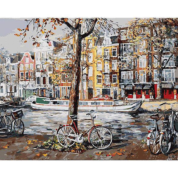 Белоснежка Живопись на холсте Осенний Амстердам 40*50 см