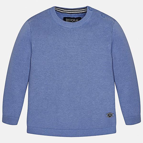Свитер для мальчика MayoralСвитера и кардиганы<br>Характеристики товара:<br><br>• цвет: синий<br>• состав: 100% хлопок<br>• рукава длинные <br>• пуговицы на плече<br>• округлая горловина<br>• манжеты<br>• страна бренда: Испания<br><br>Удобный и красивый свитер для мальчика поможет разнообразить гардероб ребенка и обеспечить тепло. Он отлично сочетается и с джинсами, и с брюками. Универсальный цвет позволяет подобрать к вещи низ различных расцветок. Интересная отделка модели делает её нарядной и оригинальной. В составе материала - только натуральный хлопок, гипоаллергенный, приятный на ощупь, дышащий.<br><br>Одежда, обувь и аксессуары от испанского бренда Mayoral полюбились детям и взрослым по всему миру. Модели этой марки - стильные и удобные. Для их производства используются только безопасные, качественные материалы и фурнитура. Порадуйте ребенка модными и красивыми вещами от Mayoral! <br><br>Свитер для мальчика от испанского бренда Mayoral (Майорал) можно купить в нашем интернет-магазине.<br>Ширина мм: 190; Глубина мм: 74; Высота мм: 229; Вес г: 236; Цвет: белый; Возраст от месяцев: 6; Возраст до месяцев: 9; Пол: Мужской; Возраст: Детский; Размер: 74,92,86,80; SKU: 5277951;