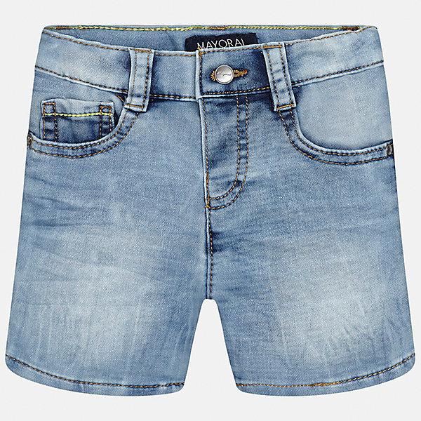 Бриджи джинсовые для мальчика MayoralШорты и бриджи<br>Характеристики товара:<br><br>• цвет: голубой<br>• состав: 52% хлопок, 47% полиэстер, 1% эластан<br>• шлевки<br>• карманы<br>• пояс с регулировкой объема<br>• эффект потертости<br>• страна бренда: Испания<br><br>Модные бриджи для мальчика смогут стать базовой вещью в гардеробе ребенка. Они отлично сочетаются с майками, футболками, рубашками и т.д. Универсальный крой и цвет позволяет подобрать к вещи верх разных расцветок. Практичное и стильное изделие! В составе материала - натуральный хлопок, гипоаллергенный, приятный на ощупь, дышащий.<br><br>Одежда, обувь и аксессуары от испанского бренда Mayoral полюбились детям и взрослым по всему миру. Модели этой марки - стильные и удобные. Для их производства используются только безопасные, качественные материалы и фурнитура. Порадуйте ребенка модными и красивыми вещами от Mayoral! <br><br>Бриджи для мальчика от испанского бренда Mayoral (Майорал) можно купить в нашем интернет-магазине.<br>Ширина мм: 191; Глубина мм: 10; Высота мм: 175; Вес г: 273; Цвет: синий; Возраст от месяцев: 18; Возраст до месяцев: 24; Пол: Мужской; Возраст: Детский; Размер: 92,80,86; SKU: 5279499;