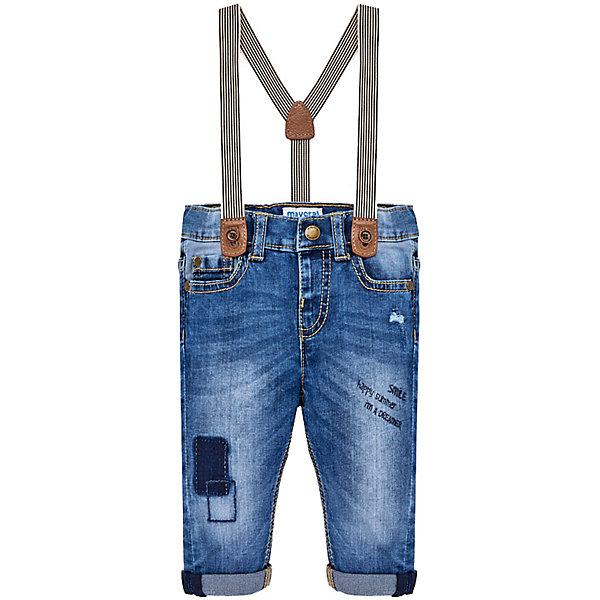 Брюки для мальчика MayoralДжинсы и брючки<br>Характеристики товара:<br><br>• цвет: темно-синий<br>• состав: 100% хлопок<br>• ремень в комплекте<br>• шлевки<br>• карманы<br>• пояс с регулировкой объема<br>• классический силуэт<br>• страна бренда: Испания<br><br>Модные брюки для мальчика смогут стать базовой вещью в гардеробе ребенка. Они отлично сочетаются с майками, футболками, рубашками и т.д. Универсальный крой и цвет позволяет подобрать к вещи верх разных расцветок. Практичное и стильное изделие! В составе материала - натуральный хлопок, гипоаллергенный, приятный на ощупь, дышащий.<br><br>Одежда, обувь и аксессуары от испанского бренда Mayoral полюбились детям и взрослым по всему миру. Модели этой марки - стильные и удобные. Для их производства используются только безопасные, качественные материалы и фурнитура. Порадуйте ребенка модными и красивыми вещами от Mayoral! <br><br>Брюки для мальчика от испанского бренда Mayoral (Майорал) можно купить в нашем интернет-магазине.<br>Ширина мм: 215; Глубина мм: 88; Высота мм: 191; Вес г: 336; Цвет: синий; Возраст от месяцев: 18; Возраст до месяцев: 24; Пол: Мужской; Возраст: Детский; Размер: 92,80,86; SKU: 5279637;