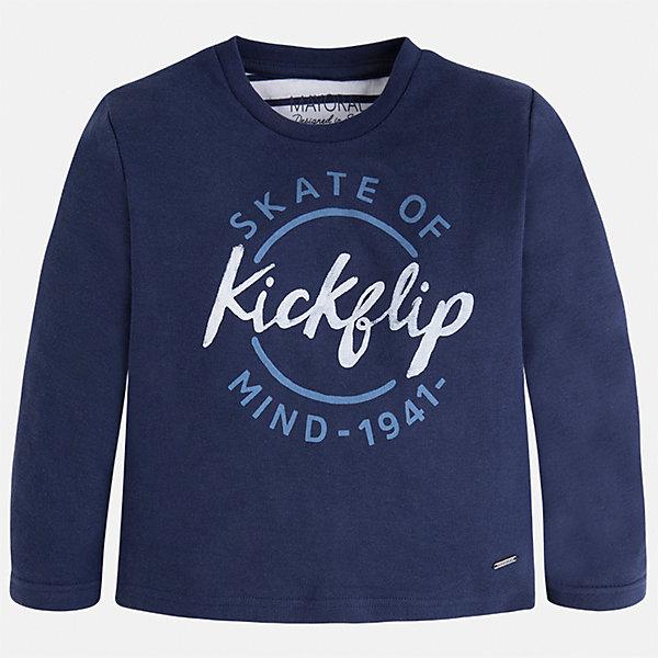 Купить Футболка с длинным рукавом для мальчика Mayoral, Индия, синий, Мужской