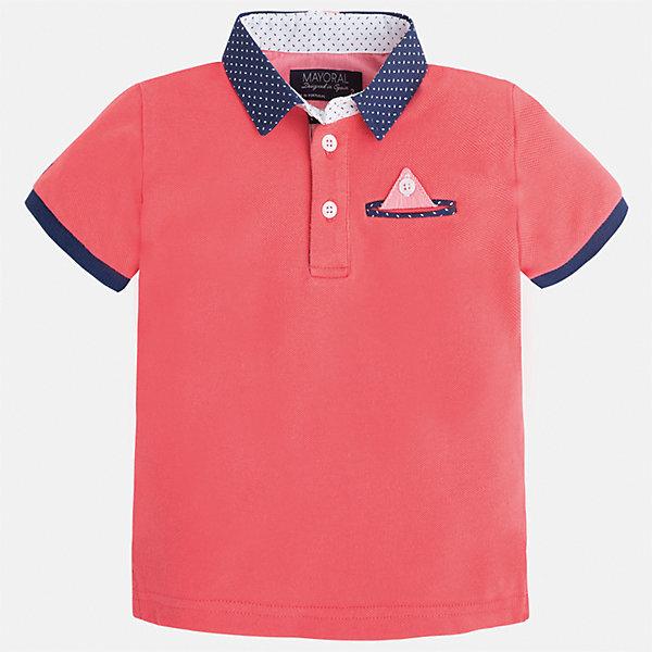Футболка-поло для мальчика MayoralФутболки, поло и топы<br>Характеристики товара:<br><br>• цвет: розовый<br>• состав: 100% хлопок<br>• отложной воротник<br>• короткие рукава<br>• застежка: пуговицы<br>• карман на груди<br>• страна бренда: Испания<br><br>Модная футболка-поло для мальчика может стать базовой вещью в гардеробе ребенка. Она отлично сочетается с брюками, шортами, джинсами и т.д. Универсальный крой и цвет позволяет подобрать к вещи низ разных расцветок. Практичное и стильное изделие! В составе материала - только натуральный хлопок, гипоаллергенный, приятный на ощупь, дышащий.<br>Одежда, обувь и аксессуары от испанского бренда Mayoral полюбились детям и взрослым по всему миру. Модели этой марки - стильные и удобные. Для их производства используются только безопасные, качественные материалы и фурнитура. Порадуйте ребенка модными и красивыми вещами от Mayoral! <br><br>Футболку-поло для мальчика от испанского бренда Mayoral (Майорал) можно купить в нашем интернет-магазине.<br>Ширина мм: 230; Глубина мм: 40; Высота мм: 220; Вес г: 250; Цвет: розовый; Возраст от месяцев: 96; Возраст до месяцев: 108; Пол: Мужской; Возраст: Детский; Размер: 134,104,92,98,110,116,122,128; SKU: 5280318;