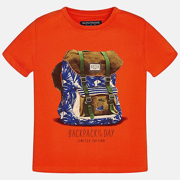 Футболка для мальчика MayoralФутболки, поло и топы<br>Характеристики товара:<br><br>• цвет: красный<br>• состав: 100% хлопок<br>• круглый горловой вырез<br>• декорирована принтом<br>• короткие рукава<br>• мягкая отделка горловины<br>• страна бренда: Испания<br><br>Стильная удобная футболка с принтом поможет разнообразить гардероб мальчика. Она отлично сочетается с брюками, шортами, джинсами. Универсальный крой и цвет позволяет подобрать к вещи низ разных расцветок. Практичное и стильное изделие! Хорошо смотрится и комфортно сидит на детях. В составе материала - только натуральный хлопок, гипоаллергенный, приятный на ощупь, дышащий. <br><br>Одежда, обувь и аксессуары от испанского бренда Mayoral полюбились детям и взрослым по всему миру. Модели этой марки - стильные и удобные. Для их производства используются только безопасные, качественные материалы и фурнитура. Порадуйте ребенка модными и красивыми вещами от Mayoral! <br><br>Футболку для мальчика от испанского бренда Mayoral (Майорал) можно купить в нашем интернет-магазине.<br>Ширина мм: 199; Глубина мм: 10; Высота мм: 161; Вес г: 151; Цвет: красный; Возраст от месяцев: 156; Возраст до месяцев: 168; Пол: Мужской; Возраст: Детский; Размер: 170,128/134,140,152,158,164; SKU: 5281309;