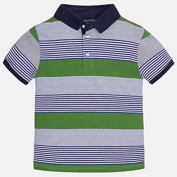 Футболка-поло для мальчика MayoralФутболки, поло и топы<br>Характеристики товара:<br><br>• цвет: серый/зеленый/синий<br>• состав: 100% хлопок<br>• отложной воротник<br>• декорирована вышивкой<br>• короткие рукава<br>• застежки: пуговицы<br>• страна бренда: Испания<br><br>Удобная стильная футболка-поло поможет разнообразить гардероб мальчика. Она отлично сочетается с брюками, шортами, джинсами. Универсальный крой и цвет позволяет подобрать к вещи низ разных расцветок. Практичное и стильное изделие! Хорошо смотрится и комфортно сидит на детях. В составе материала - только натуральный хлопок, гипоаллергенный, приятный на ощупь, дышащий. <br><br>Одежда, обувь и аксессуары от испанского бренда Mayoral полюбились детям и взрослым по всему миру. Модели этой марки - стильные и удобные. Для их производства используются только безопасные, качественные материалы и фурнитура. Порадуйте ребенка модными и красивыми вещами от Mayoral! <br><br>Футболка-поло для мальчика от испанского бренда Mayoral (Майорал) можно купить в нашем интернет-магазине.<br>Ширина мм: 230; Глубина мм: 40; Высота мм: 220; Вес г: 250; Цвет: белый; Возраст от месяцев: 84; Возраст до месяцев: 96; Пол: Мужской; Возраст: Детский; Размер: 158,164,128/134,170,140,152; SKU: 5281472;