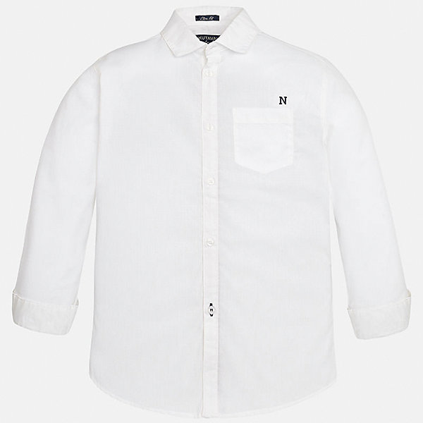 Рубашка для мальчика MayoralБлузки и рубашки<br>Характеристики товара:<br><br>• цвет: белый<br>• состав: 100% хлопок<br>• отложной воротник<br>• декорирована карманом на груди<br>• рукава с отворотами<br>• застежки: пуговицы<br>• страна бренда: Испания<br><br>Модная рубашка поможет разнообразить гардероб мальчика. Она отлично сочетается с брюками, шортами, джинсами. Универсальный крой и цвет позволяет подобрать к вещи низ разных расцветок. Практичное и стильное изделие! Хорошо смотрится и комфортно сидит на детях. В составе материала - только натуральный хлопок, гипоаллергенный, приятный на ощупь, дышащий. <br><br>Одежда, обувь и аксессуары от испанского бренда Mayoral полюбились детям и взрослым по всему миру. Модели этой марки - стильные и удобные. Для их производства используются только безопасные, качественные материалы и фурнитура. Порадуйте ребенка модными и красивыми вещами от Mayoral! <br><br>Рубашку для мальчика от испанского бренда Mayoral (Майорал) можно купить в нашем интернет-магазине.<br>Ширина мм: 174; Глубина мм: 10; Высота мм: 169; Вес г: 157; Цвет: белый; Возраст от месяцев: 156; Возраст до месяцев: 168; Пол: Мужской; Возраст: Детский; Размер: 170,128/134,140,152,164,158; SKU: 5281652;