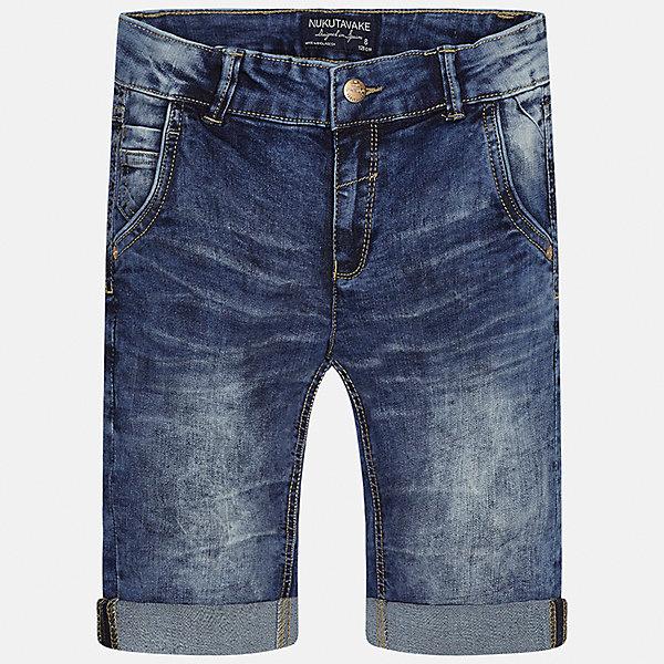 Бриджи джинсовые для мальчика MayoralШорты, бриджи, капри<br>Характеристики товара:<br><br>• цвет: синий<br>• состав: 76% хлопок, 22% полиэстер, 2% эластан<br>• шлевки<br>• карманы<br>• пояс с регулировкой объема<br>• отвороты<br>• страна бренда: Испания<br><br>Стильные бриджи для мальчика смогут стать базовой вещью в гардеробе ребенка. Они отлично сочетаются с майками, футболками, рубашками и т.д. Универсальный крой и цвет позволяет подобрать к вещи верх разных расцветок. Практичное и стильное изделие! В составе материала - натуральный хлопок, гипоаллергенный, приятный на ощупь, дышащий.<br><br>Одежда, обувь и аксессуары от испанского бренда Mayoral полюбились детям и взрослым по всему миру. Модели этой марки - стильные и удобные. Для их производства используются только безопасные, качественные материалы и фурнитура. Порадуйте ребенка модными и красивыми вещами от Mayoral! <br><br>Бриджи для мальчика от испанского бренда Mayoral (Майорал) можно купить в нашем интернет-магазине.<br>Ширина мм: 191; Глубина мм: 10; Высота мм: 175; Вес г: 273; Цвет: синий; Возраст от месяцев: 132; Возраст до месяцев: 144; Пол: Мужской; Возраст: Детский; Размер: 158,170,128/134,140,152,164; SKU: 5281755;