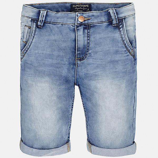 Бриджи джинсовые для мальчика MayoralДжинсовая одежда<br>Характеристики товара:<br><br>• цвет: голубой<br>• состав: 52% хлопок, 47% полиэстер, 1% эластан<br>• шлевки<br>• карманы<br>• пояс с регулировкой объема<br>• отвороты<br>• страна бренда: Испания<br><br>Стильные шорты для мальчика смогут стать базовой вещью в гардеробе ребенка. Они отлично сочетаются с майками, футболками, рубашками и т.д. Универсальный крой и цвет позволяет подобрать к вещи верх разных расцветок. Практичное и стильное изделие! В составе материала - натуральный хлопок, гипоаллергенный, приятный на ощупь, дышащий.<br><br>Одежда, обувь и аксессуары от испанского бренда Mayoral полюбились детям и взрослым по всему миру. Модели этой марки - стильные и удобные. Для их производства используются только безопасные, качественные материалы и фурнитура. Порадуйте ребенка модными и красивыми вещами от Mayoral! <br><br>Шорты для мальчика от испанского бренда Mayoral (Майорал) можно купить в нашем интернет-магазине.<br>Ширина мм: 191; Глубина мм: 10; Высота мм: 175; Вес г: 273; Цвет: синий; Возраст от месяцев: 144; Возраст до месяцев: 156; Пол: Мужской; Возраст: Детский; Размер: 164,128/134,170,158,152,140; SKU: 5281790;