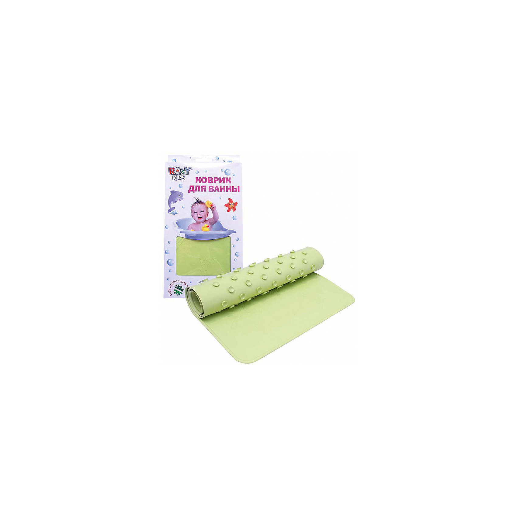 Антискользящий коврик для ванной, Roxy-Kids, салатовый