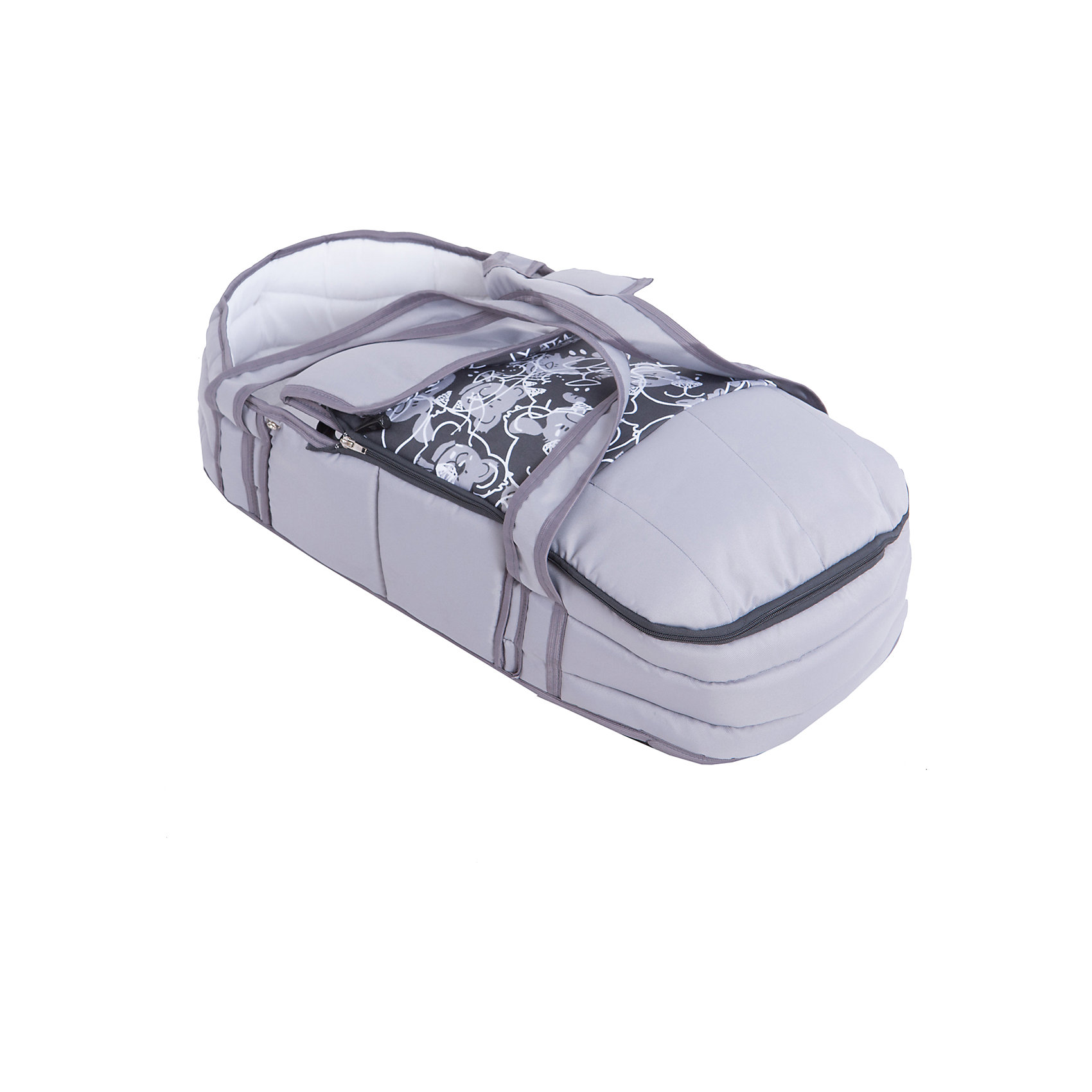 Коляска-трансформер Marimex Classic, серый с принтом