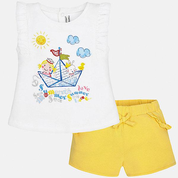 Mayoral Комплект: футболка и шорты Mayoral для девочки mayoral mayoral шорты с поясом бежевые