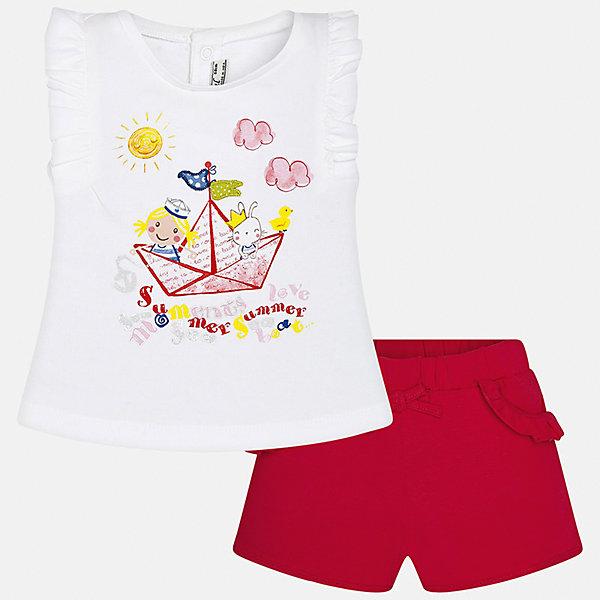 Mayoral Комплект: футболка и шорты Mayoral для девочки шорты для девочки bj8603l жёлтый byblos