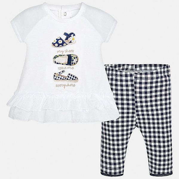 Купить Комплект: футболка с длинным рукавом и бриджи для девочки Mayoral, Китай, синий, 92, 74, 86, 80, Женский