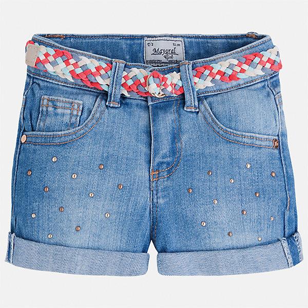 Шорты джинсовые для девочки MayoralДжинсовая одежда<br>Характеристики товара:<br><br>• цвет: голубой<br>• состав: 99% хлопок, 1% эластан<br>• легкий материал<br>• с подкладкой<br>• пояс на резинке<br>• украшены бантиком<br>• страна бренда: Испания<br><br>Модные легкие шорты для девочки смогут разнообразить гардероб ребенка и украсить наряд. Они отлично сочетаются с майками, футболками, блузками.Интересный крой модели делает её нарядной и оригинальной. <br><br>Шорты для девочки от испанского бренда Mayoral (Майорал) можно купить в нашем интернет-магазине.<br>Ширина мм: 191; Глубина мм: 10; Высота мм: 175; Вес г: 273; Цвет: синий; Возраст от месяцев: 48; Возраст до месяцев: 60; Пол: Женский; Возраст: Детский; Размер: 110,104,134,98,122,116,128; SKU: 5289659;