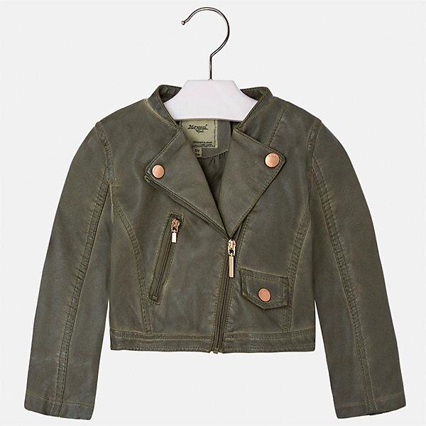 Куртка для девочки MayoralВерхняя одежда<br>Характеристики товара:<br><br>• цвет: хаки<br>• состав: 100% полиэстер, верх - 100% полиэстер<br>• температурный режим от +15°до +10°С<br>• косая молния<br>• карманы<br>• с длинными рукавами <br>• плотная ткань<br>• страна бренда: Испания<br><br>Стильная куртка для девочки поможет разнообразить гардероб ребенка и обеспечить тепло в прохладную погоду. Она отлично сочетается и с юбками, и с брюками. Красивый цвет позволяет подобрать к вещи низ различных расцветок. Интересная отделка модели делает её нарядной и стильной. Оригинальной и модной куртку делает косая молния.<br><br>Одежда, обувь и аксессуары от испанского бренда Mayoral полюбились детям и взрослым по всему миру. Модели этой марки - стильные и удобные. Для их производства используются только безопасные, качественные материалы и фурнитура. Порадуйте ребенка модными и красивыми вещами от Mayoral! <br><br>Куртку для девочки от испанского бренда Mayoral (Майорал) можно купить в нашем интернет-магазине.<br>Ширина мм: 356; Глубина мм: 10; Высота мм: 245; Вес г: 519; Цвет: коричневый; Возраст от месяцев: 96; Возраст до месяцев: 108; Пол: Женский; Возраст: Детский; Размер: 134,92,128,122,116,110,104,98; SKU: 5290082;