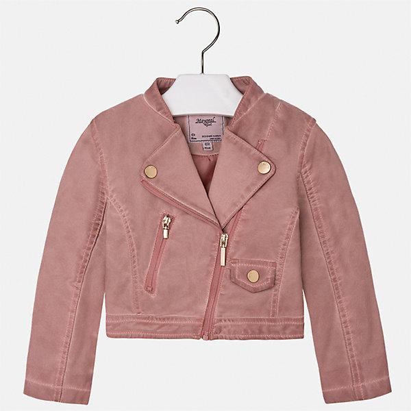 Куртка для девочки MayoralВерхняя одежда<br>Характеристики товара:<br><br>• цвет: розовый<br>• состав: 100% полиэстер, верх - 100% полиэстер<br>• косая молния<br>• карманы<br>• с длинными рукавами <br>• плотная ткань<br>• страна бренда: Испания<br><br>Стильная куртка для девочки поможет разнообразить гардероб ребенка и обеспечить тепло в прохладную погоду. Она отлично сочетается и с юбками, и с брюками. Красивый цвет позволяет подобрать к вещи низ различных расцветок. Интересная отделка модели делает её нарядной и стильной. Оригинальной и модной куртку делает косая молния.<br><br>Одежда, обувь и аксессуары от испанского бренда Mayoral полюбились детям и взрослым по всему миру. Модели этой марки - стильные и удобные. Для их производства используются только безопасные, качественные материалы и фурнитура. Порадуйте ребенка модными и красивыми вещами от Mayoral! <br><br>Куртку для девочки от испанского бренда Mayoral (Майорал) можно купить в нашем интернет-магазине.<br>Ширина мм: 356; Глубина мм: 10; Высота мм: 245; Вес г: 519; Цвет: розовый; Возраст от месяцев: 96; Возраст до месяцев: 108; Пол: Женский; Возраст: Детский; Размер: 134,122,116,110,128,104,98,92; SKU: 5290091;