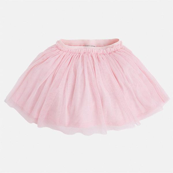 Юбка для девочки MayoralЮбки<br>Характеристики товара:<br><br>• цвет: розовый<br>• состав: 100% полиэстер, подкладка - 100% хлопок<br>• пояс на резинке<br>• легкий материал<br>• с подкладкой<br>• объемная<br>• страна бренда: Испания<br><br>Легкая юбка для девочки поможет разнообразить гардероб ребенка и создать эффектный наряд. Она отлично сочетаются с майками, футболками, блузками. Красивый оттенок позволяет подобрать к вещи верх разных расцветок. В составе материала подкладки - натуральный хлопок, гипоаллергенный, приятный на ощупь, дышащий. Юбка отлично сидит и не стесняет движения.<br><br>Одежда, обувь и аксессуары от испанского бренда Mayoral полюбились детям и взрослым по всему миру. Модели этой марки - стильные и удобные. Для их производства используются только безопасные, качественные материалы и фурнитура. Порадуйте ребенка модными и красивыми вещами от Mayoral! <br><br>Юбку для девочки от испанского бренда Mayoral (Майорал) можно купить в нашем интернет-магазине.<br>Ширина мм: 207; Глубина мм: 10; Высота мм: 189; Вес г: 183; Цвет: розовый; Возраст от месяцев: 18; Возраст до месяцев: 24; Пол: Женский; Возраст: Детский; Размер: 92,134,128,122,116,110,104,98; SKU: 5290912;