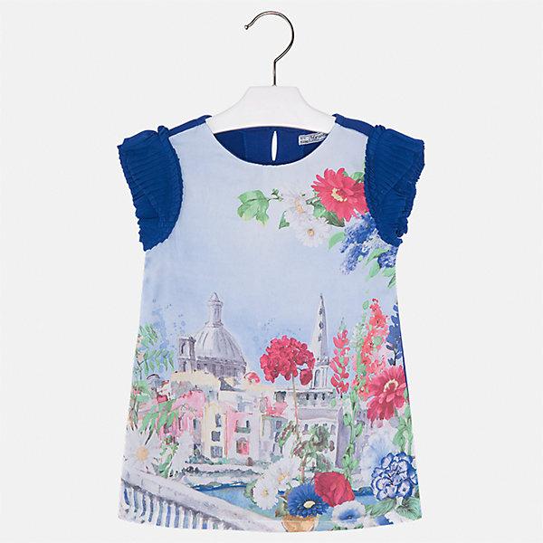 Платье для девочки MayoralЛетние платья и сарафаны<br>Характеристики товара:<br><br>• цвет: синий/голубой<br>• состав: 70% полиэстер, 28% хлопок, 2% эластан, подкладка - 95% хлопок, 5% эластан<br>• застежка: молния<br>• принт<br>• объемные короткие рукава<br>• прямой силуэт<br>• с подкладкой<br>• страна бренда: Испания<br><br>Эффектное платье для девочки поможет разнообразить гардероб ребенка и создать эффектный наряд. Оно отлично подойдет и для торжественных случаев. Красивый оттенок позволяет подобрать к вещи обувь разных расцветок. В составе материала подкладки - натуральный хлопок, гипоаллергенный, приятный на ощупь, дышащий. Платье хорошо сидит по фигуре.<br><br>Одежда, обувь и аксессуары от испанского бренда Mayoral полюбились детям и взрослым по всему миру. Модели этой марки - стильные и удобные. Для их производства используются только безопасные, качественные материалы и фурнитура. Порадуйте ребенка модными и красивыми вещами от Mayoral! <br><br>Платье для девочки от испанского бренда Mayoral (Майорал) можно купить в нашем интернет-магазине.<br>Ширина мм: 236; Глубина мм: 16; Высота мм: 184; Вес г: 177; Цвет: синий; Возраст от месяцев: 36; Возраст до месяцев: 48; Пол: Женский; Возраст: Детский; Размер: 104,98,92,134,128,122,116,110; SKU: 5291207;