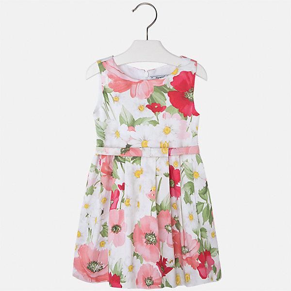 Платье для девочки MayoralОдежда<br>Характеристики товара:<br><br>• цвет: бело-розовый<br>• состав: 97% хлопок, 3% эластан, подкладка - 50% полиэстер, 50% хлопок<br>• застежка: молния<br>• складки<br>• принт<br>• без рукавов<br>• с подкладкой<br>• страна бренда: Испания<br><br>Нарядное платье для девочки поможет разнообразить гардероб ребенка и создать эффектный наряд. Оно отлично подойдет для торжественных случаев или на каждый день. Красивый оттенок позволяет подобрать к вещи обувь разных расцветок. В составе материала подкладки - натуральный хлопок, гипоаллергенный, приятный на ощупь, дышащий. Платье хорошо сидит по фигуре.<br><br>Одежда, обувь и аксессуары от испанского бренда Mayoral полюбились детям и взрослым по всему миру. Модели этой марки - стильные и удобные. Для их производства используются только безопасные, качественные материалы и фурнитура. Порадуйте ребенка модными и красивыми вещами от Mayoral! <br><br>Платье для девочки от испанского бренда Mayoral (Майорал) можно купить в нашем интернет-магазине.<br>Ширина мм: 236; Глубина мм: 16; Высота мм: 184; Вес г: 177; Цвет: оранжевый; Возраст от месяцев: 18; Возраст до месяцев: 24; Пол: Женский; Возраст: Детский; Размер: 92,134,128,122,116,110,104,98; SKU: 5291270;