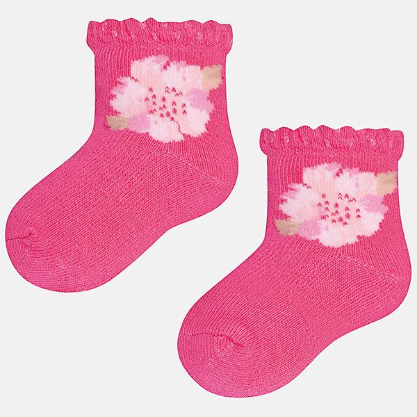 Носки для девочки MayoralНоски<br>Характеристики товара:<br><br>• цвет: розовый<br>• состав: 68% хлопок, 28% полиамид, 4% эластан<br>• комплектация: одна пара<br>• мягкая ажурная резинка<br>• эластичный материал<br>• декорированы цветами<br>• страна бренда: Испания<br><br>Удобные симпатичные носки для девочки помогут обеспечить ребенку комфорт и дополнить наряд. Универсальный цвет позволяет надевать их под обувь разных расцветок. Носки удобно сидят на ноге и красиво смотрятся. В составе материала - натуральный хлопок, гипоаллергенный, приятный на ощупь, дышащий. <br><br>Одежда, обувь и аксессуары от испанского бренда Mayoral полюбились детям и взрослым по всему миру. Модели этой марки - стильные и удобные. Для их производства используются только безопасные, качественные материалы и фурнитура. Порадуйте ребенка модными и красивыми вещами от Mayoral! <br><br>Носки для девочки от испанского бренда Mayoral (Майорал) можно купить в нашем интернет-магазине.<br>Ширина мм: 87; Глубина мм: 10; Высота мм: 105; Вес г: 115; Цвет: розовый; Возраст от месяцев: 12; Возраст до месяцев: 18; Пол: Женский; Возраст: Детский; Размер: 12,24; SKU: 5293388;